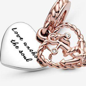 ❤️NWT Pandora Rope Heart & Love Anchor Charm